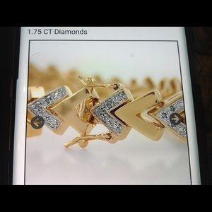 Women's bracelet 1.75 ct diamonds